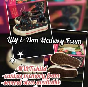 Girl Canvas Memory Foam Shoes